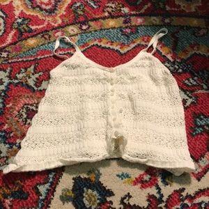 Guess crochet crop
